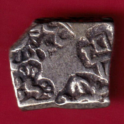 Ancient India - King Ashoka - Punchmark - Rare Silver Coin #py16