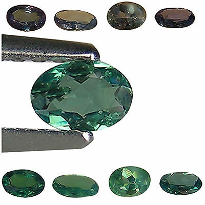 0.76 Ct / 4 PCS Natural Alexandrite Gemstone Green To Purple Color Oval Cut