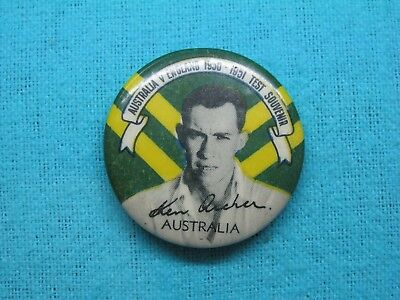 1950-51 NSW AUSTRALIA CRICKET CLUB SERIES TEAM PLAYER TIN BACK BADGE No11