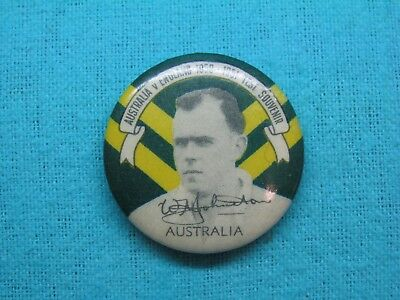 1950-51 NSW AUSTRALIA CRICKET CLUB SERIES TEAM PLAYER TIN BACK BADGE No12