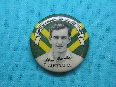1950-51 NSW AUSTRALIA CRICKET CLUB SERIES TEAM PLAYER TIN BACK BADGE No18