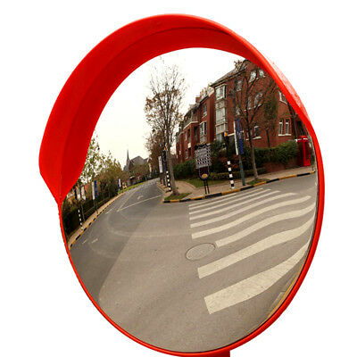 "24"" Outdoor Road Traffic Convex PC Mirror Wide Angle Driveway Safety Security"