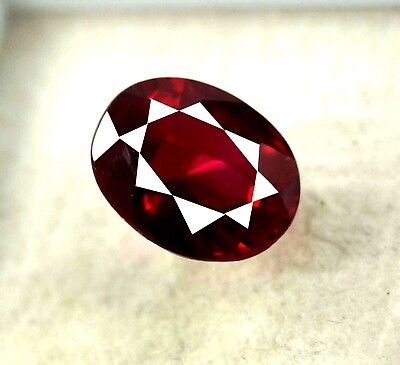 New Year Offer  GGL Certified 7.00 Ct Natural Oval Cut Red Mozambique Ruby Gem