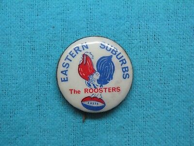 Eastern Suburbs Roosters Rugby League Football Club Tin Back Badge