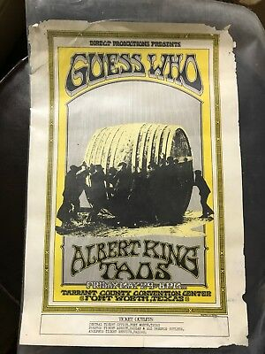 Guess Who Albert King Taos 1970 Fort Worth Texas Concert Poster Flyer