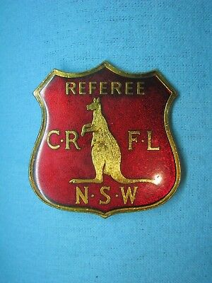 COUNTRY RUGBY FOOTBALL LEAGUE NSW KANGAROO REFEREE ENAMEL BADGE No 607