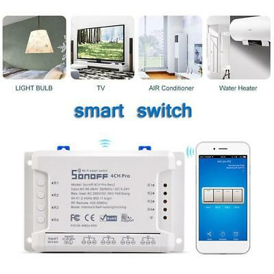 Sonoff 4CH Pro R2 4 Channels Smart Switch 433MHz Wifi Remote Control Home