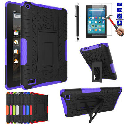 Heavy Duty Tough Armour Kickstand Case Cover For Amazon Kindle fire 7 HD 8 2017