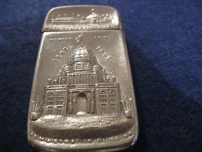 1893 WORLD'S FAIR MATCH SAFE HORTICULTURAL and ADMINISTRATION BUILDINGS XLNT!!