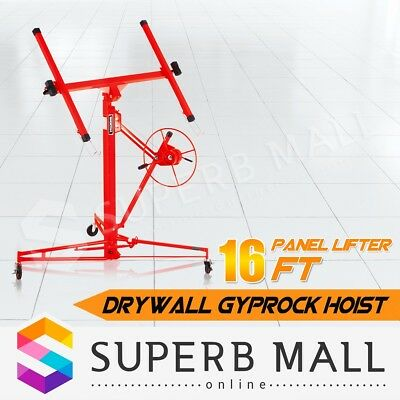 16FT Drywall Gyprock Panel Lifter Plaster Board Sheet Hoist Lift Plasterboard