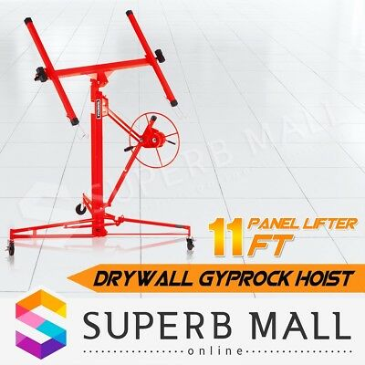 11FT Drywall Gyprock Panel Lifter Plaster Board Sheet Hoist Lift Plasterboard