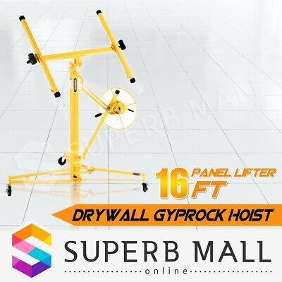 16FT 65KG Drywall Gyprock Sheet Panel Lifter Plasterboard Hoist Plaster Board