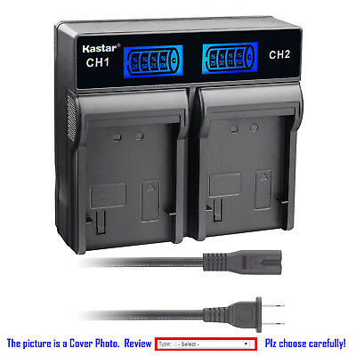 Kastar Battery LCD Rapid Charger for BN-VG114 JVC Everio GZ-EX210BU GZ-EX250BUS