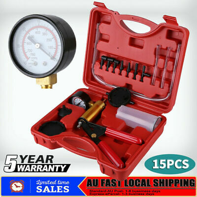 Vacuum Brake Bleeder Kit Vacuum Pump with Gauge Air Pressure Fluid Bleed Tool AU