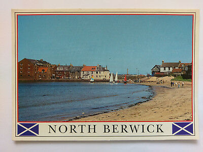 North Berwick colour Postcard 2002 The Beach