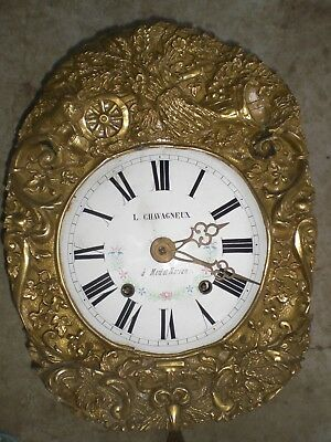 Antique French Comtoise Clock With Pendulum And Weights