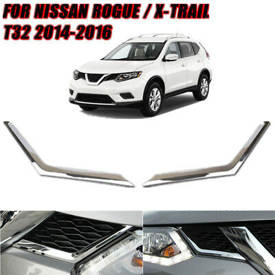 Front Grille Grill Mesh Cover Trim Styling For Nissan Rogue 2014 - 2016 Chrome