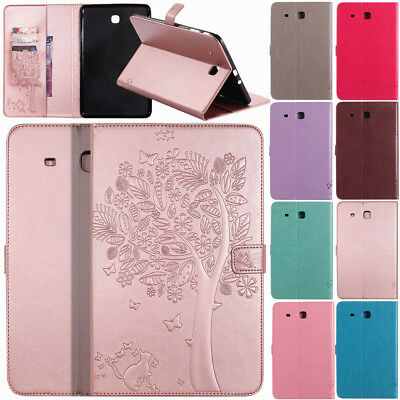 Floral Flip Wallet Leather Smart Case For Samsung Galaxy Tab A 7.0 8.0 9.7 10.1