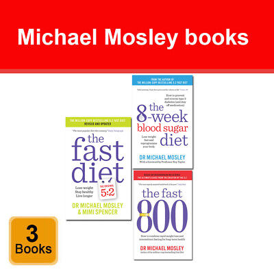 Michael Mosley collection 3 books set Fast 800, Fast Diet, 8-Week Blood Sugar
