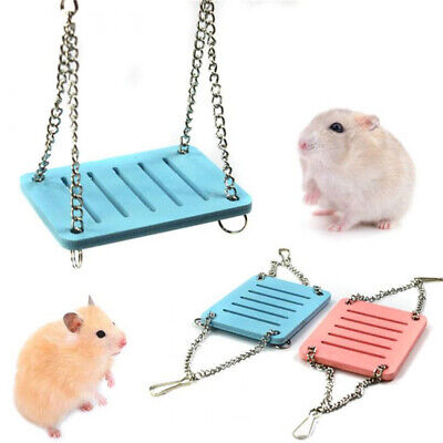 Pet Hamster Hanging Swing Rats Parrot Small Birds Exercise Cage Playing Toy New!