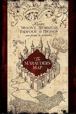 Harry Potter The Marauders Map 91.5 X 61Cm Maxi Poster New Official