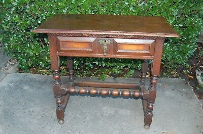 Genuine 18th C Antique Hall table, oak, dating from early 1700's