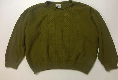 Cuggi (Coogi) Vintage Woollen Jumper Size Large - Green One Small Hole