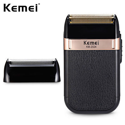 Kemei Electric Shaver USB Rechargeable Twin Blade Hair Beard Trimmer Cutting New