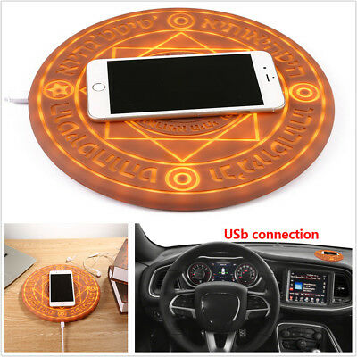 Ultra-thin Glowing Magic Array Qi Wireless Fast Charger 10W For iPhone Samsung