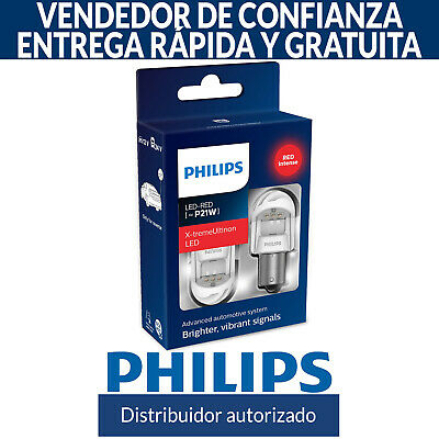 Philips X-tremeUltinon gen2 LED Xtreme Ultinon P21W Rojo Coche Bombillas (Doble)