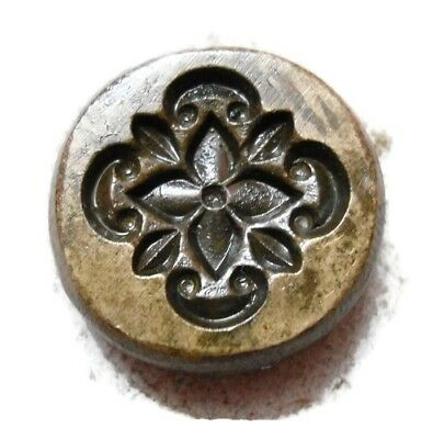 Vintage - India Hand Engraved - Jewelry Maker's - Beautiful  Die Mold - Decf10
