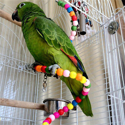 Parrot Colorful Swing Bird Pet Toy Cage Accessories Hang Fun Toy For Parakeet