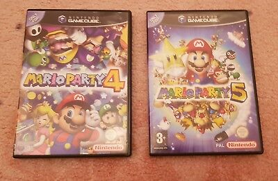 MARIO PARTY 4 & 5 GAMECUBE Cases ONLY