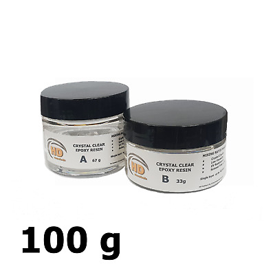 Crystal Ultra Clear Epoxy Resin UV Resistant 100g,250g,500g,1kg - 40mm ONE LAYER