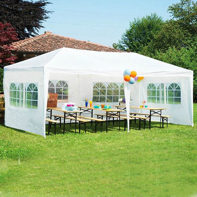 MCombo 10'x20' White Wedding Tent Canopy Party Outdoor Canopy w/ Removable Walls