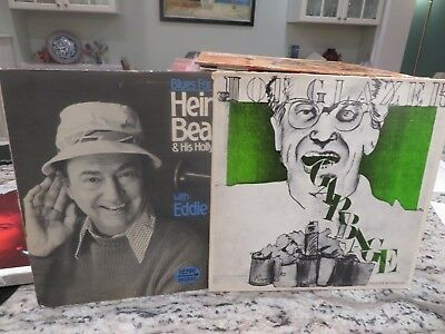Signed Autograph 2X Lp Lot - Joe Glazer & Heinie Beau Blues For Two Jazz 2-4-1