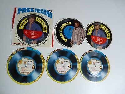 14 Vintage Cereal Box Flexy Disc Records Jackson Five  Bobby Sherman Archies