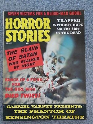 Vintage August 1971 Horror Stories Monster Magazine Volume 1 Number 6