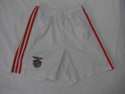 Benfica adidas football shorts, white, child, size 10 years, very good condition