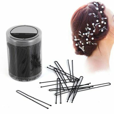 Portable Black Wavy Thin U-shaped Clip Pins Grips Hair Styling Tools 300PCS/Case