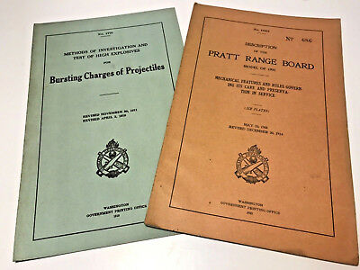 WWI Original Field Manuals - Handbooks - BURSTING CHARGES OF PROJECTILES - 1915