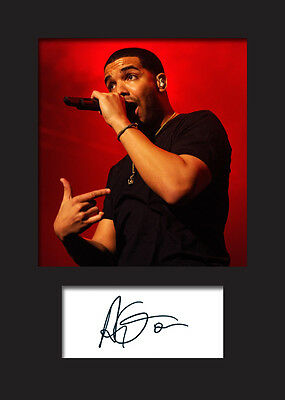 DRAKE A5 Signed Mounted Photo Print - FREE DELIVERY