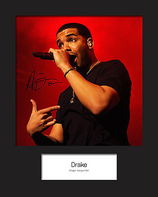 DRAKE 10x8 SIGNED Mounted Photo Print - FREE DELIVERY