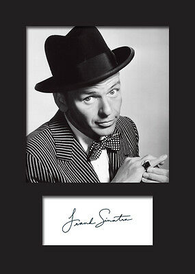 FRANK SINATRA Signed Photo Print A5 Mounted Photo Print - FREE DELIVERY
