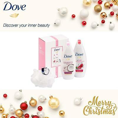 Dove Radiant Beauty Body Wash Duo Gift Set With Shower Puff Womens
