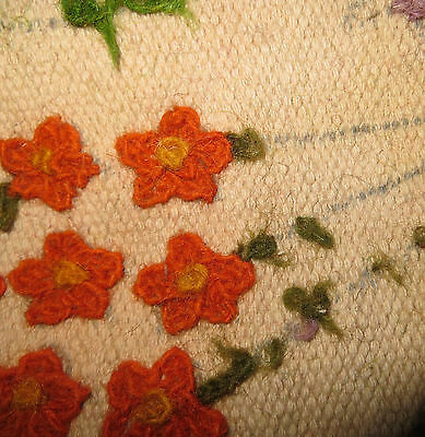 Vtg60s/floral/arts&craftTapis/ Wallhanging/Feature rug/76ins/40INS/carpet
