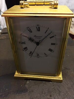 Vintage Baronet of London Brass Carriage Clock, Quartz Battery Operated