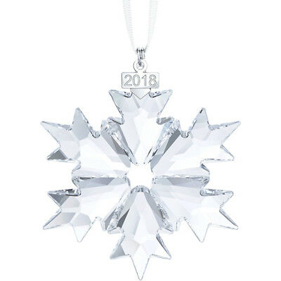 2018  Swarovski  Crystal  Annual  Snowflake  Large  Christmas  Ornament  5301575