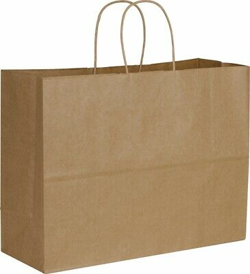 "250 Kraft Paper Bags Shoppers Vogue 29-8, 16 X 6 X 12 1/2"" - 106497"