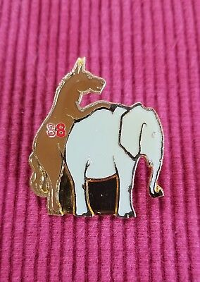 Vintage 1988 Democratic Donkey Republican Elephant Lapel Pin